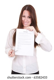businesswoman isolate on white background