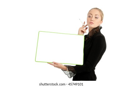 Businesswoman isolated on white background