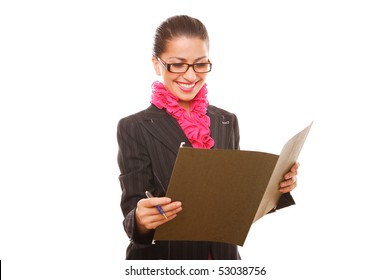 Businesswoman Manager with folder