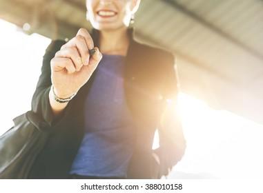 Businesswoman Manager Smiling Confident Concept