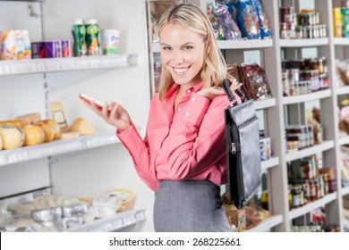businesswoman in a market