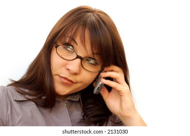 businesswoman with mobile phone #4