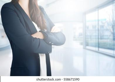 Businesswoman in office background