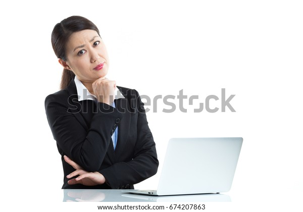 Businesswoman and PC