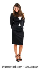 Businesswoman portrait full length