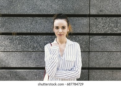 Businesswoman portrait outdoors