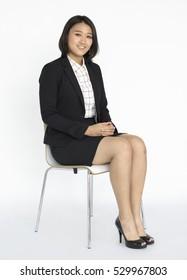 Businesswoman Portrait Studio Style Concept