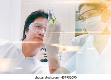Businesswoman prepare documents and business graph diagram for discuss in meeting room to target in market with digital film effect, copy space.