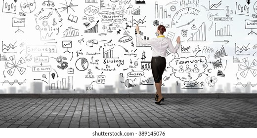 Businesswoman presenting her business ideas