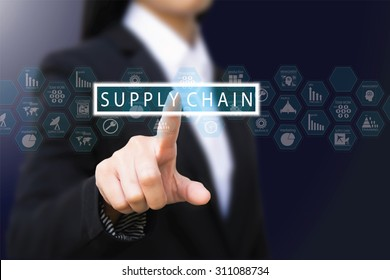 businesswoman , Supply Chain concept