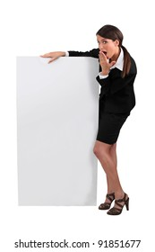 businesswoman with surprised expression