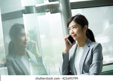 Businesswoman talk to cellphone