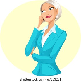 Businesswoman talking by mobile