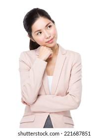 Businesswoman think of idea