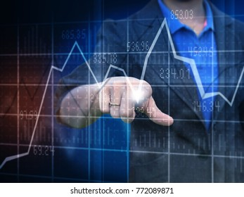 Businesswoman trade common stock