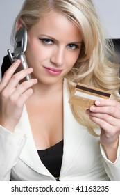 Businesswoman Using Credit Card