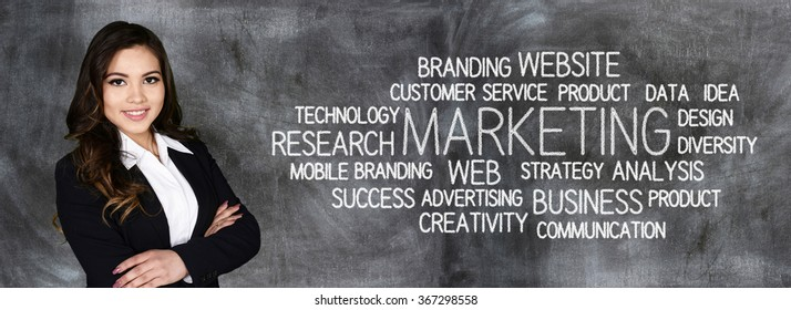 Businesswoman who is in charge of a marketing campaign