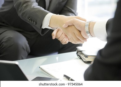 The businesswoman who confirms a document