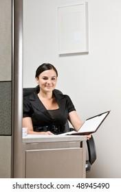 Businesswoman working at desk