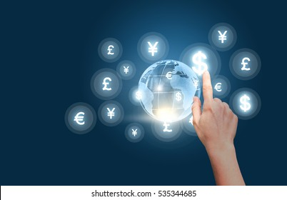 Businesswoman working in the market of Finance.
