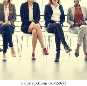 Businesswomen Teamwork Together Professional Occupation Concept