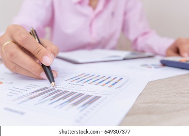 Businesswomen working with calculator at office,Finance managers task,Concept business and finance