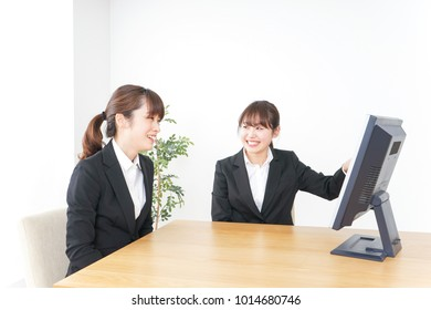 Businesswomen working at office