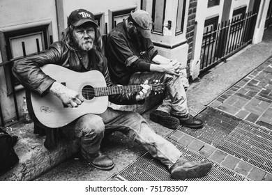 Buskers downtown: Nashville, TN March2017