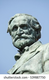 BUSSETO, PARMA, ITALY - JULY 30: Giuseppe Verdi Statue, July 30, 2016
