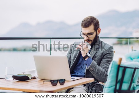 bussiness man caffe bussines plan stock photo edit now 1060019507