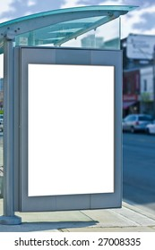 busstop with copy space for advertisement