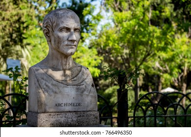 Bust of Archimedes found in Rome, Italy