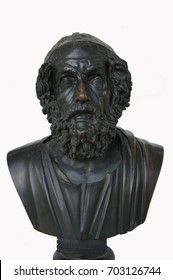 Bust of bronze sculpture of Homer ancient Greek poet
