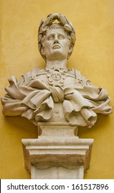 A bust of Octavius Augustus in Modena , Emilia -Romagna, Italy. He is the first emperor of the Roman Empire.