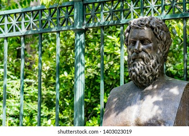 Bust of tragic poet Sophocles in Athens, Greece