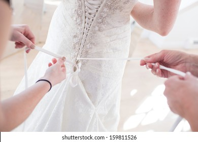 Bustling a Wedding Dress