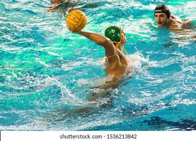 Busto Arsizio, Italy, October 19 2019 Ferrero Dolce during Banco BPM Sport Management vs C.C. Ortigia Waterpolo Italian Serie A Men Championship