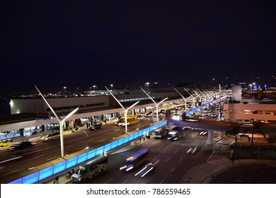 Busy airport after the holidays, Los Angeles International Airport, January 3, 2018.