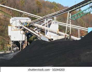 Busy coal mine.