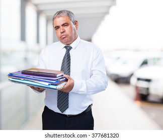 busy mature business man