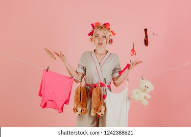 Busy mother. Multitasking mom. Performing Different Household Duties. emotional retro housewife. Vintage housekeeper girl. Maid or housewife cares about house. Cleanness is in trend. what should i do.
