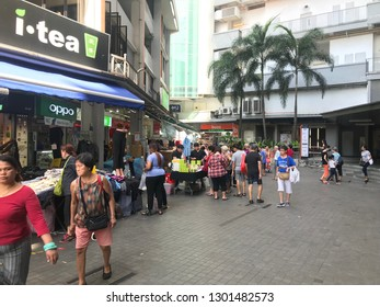 Busy shoppers in the streets of Singapore, Clementi Singapore February 1st 2019