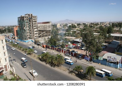 busy streets in Addis Abeba/ Ethiopia - March 21 - 2009