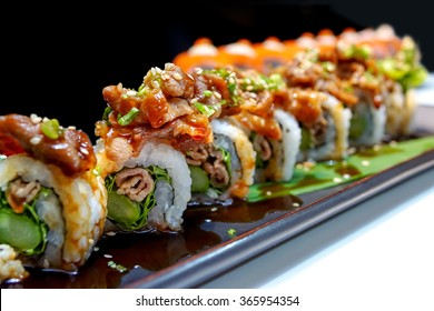 Buta roll - Japanese grilled pork roll