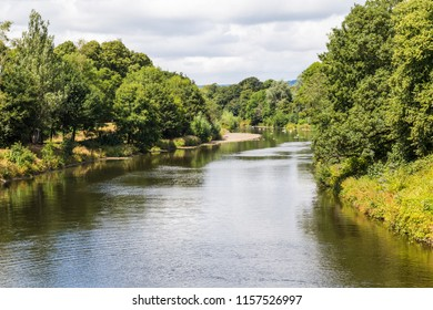 Bute park and Taff river in the centre of Cardiff, Wales, UK
