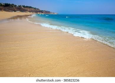 Butihondo Jandia beach Fuerteventura at Canary Islands of Spain