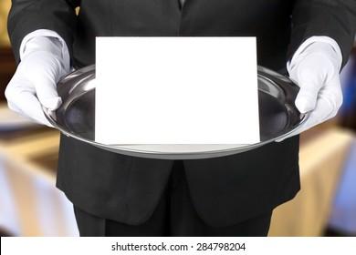 Butler, Wait Staff, Tray.