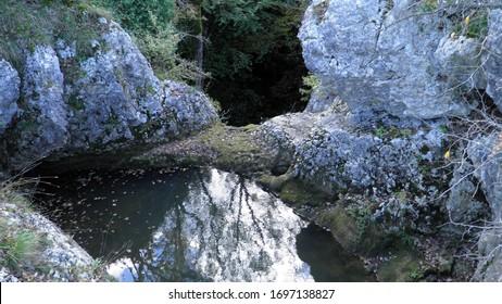Butori waterfall during the dry season and without water, Sterna - Istria, Croatia (Slap Butori tijekom susne sezone i bez vode, Sterna - Istra, Hrvatska) - Shutterstock ID 1697138827