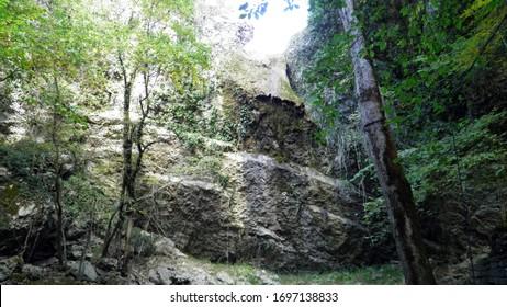 Butori waterfall during the dry season and without water, Sterna - Istria, Croatia (Slap Butori tijekom susne sezone i bez vode, Sterna - Istra, Hrvatska) - Shutterstock ID 1697138833