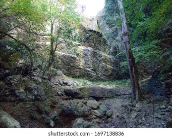 Butori waterfall during the dry season and without water, Sterna - Istria, Croatia (Slap Butori tijekom susne sezone i bez vode, Sterna - Istra, Hrvatska) - Shutterstock ID 1697138836